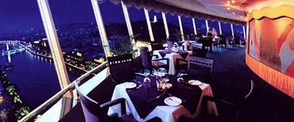 China Zhongshan Revolving Restaurant and Best New Bar View