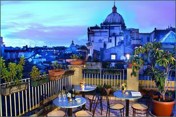 Rome Rooftop Top Floor Dining Bar