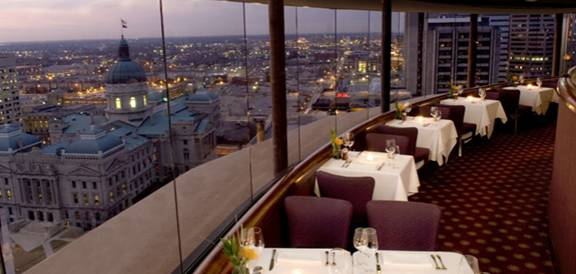 Indiana Eagle S Nest Revolving Restaurant Hyatt Regency Indianapolis