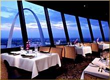 St Louis. Top Of The Riverfront Revolving Restaurant