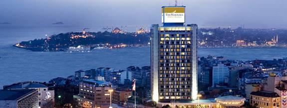 Istanbul Marmara Hotel Rooftop Restaurant  Best New Bar View