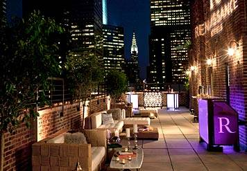 Nyc New York Roof Top Bar And Restaurant Chrysler Building View Marriott Rooftop
