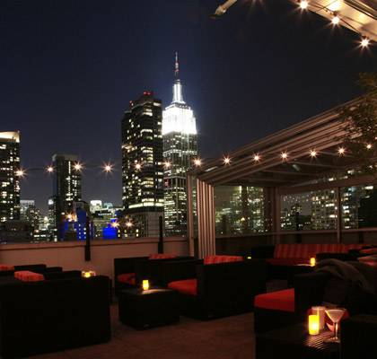 NYC New York Roof top Restaurant Chrysler Building View