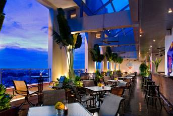 Vietnam rooftop Wine Bar